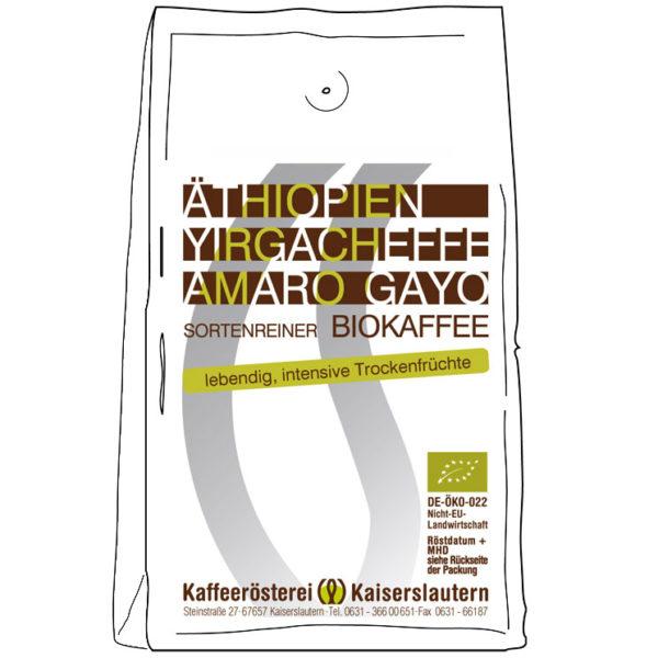 Äthiopien Yirgacheffe Bio Kaffee