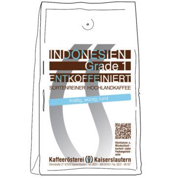 Kaffee koffeinfrei Indonesien