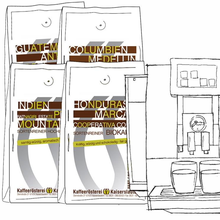 Kaffee Probierset Vollautomaten
